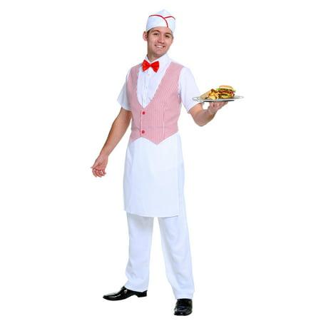 Men's 50s Car Hop Costume for $<!---->