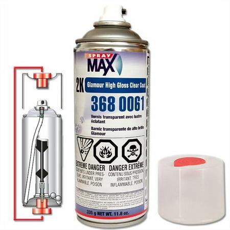 U. S. Chemical and Plastics 2K Glamour High Gloss Clear Coat, Aerosol, 11.8-oz 3680061