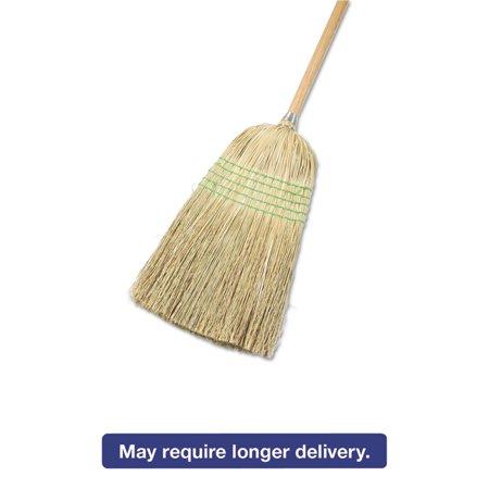 Soft Natural Bristles Floor Tool - Parlor Broom, Yucca/corn Fiber Bristles, 55