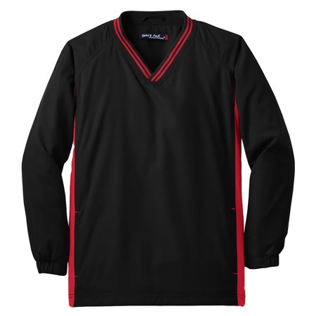 Sport-Tek Youth Tipped V-Neck Soft Wind Shirt