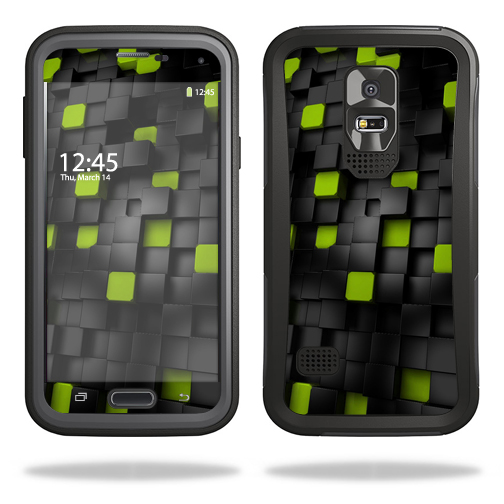 Mightyskins Protective Skin Decal Cover for OtterBox Preserver Samsung Galaxy S5 Case wrap sticker skins Cubes