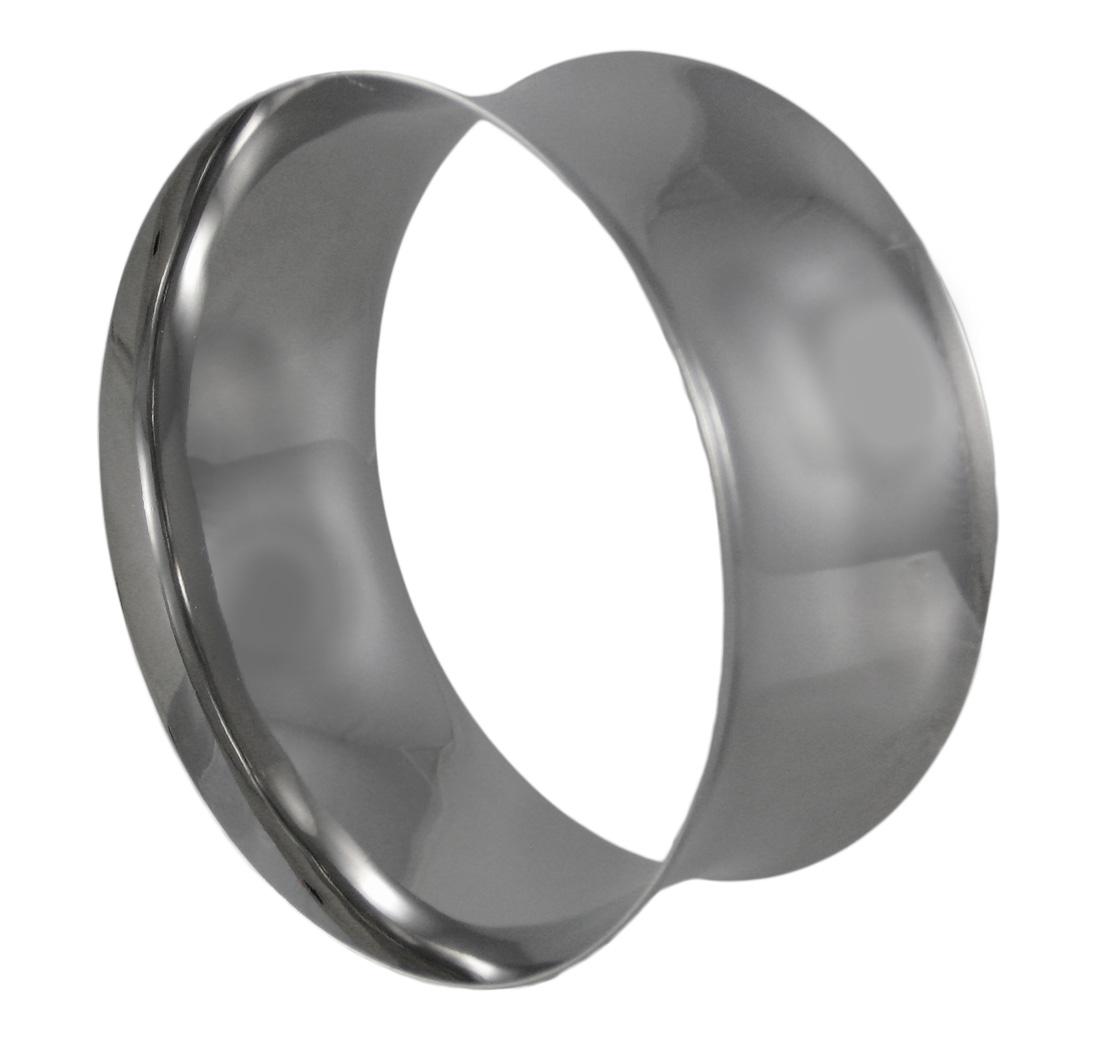 Chrome Plated Concave Ring Bangle Bracelet - image 1 de 3