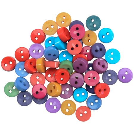 (Dress It Up Embellishments-Tiny Round Buttons - Gemtone)