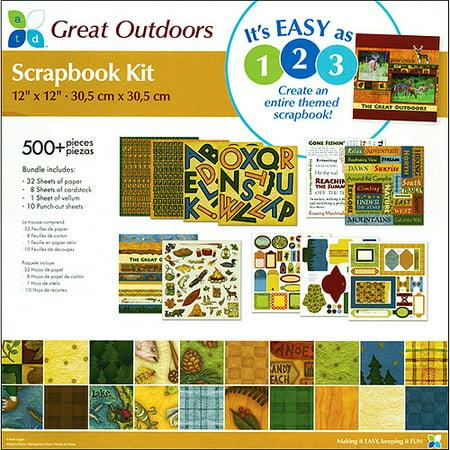 Scrapbook Bundle Kit 12x12 Great Outdoors Walmart