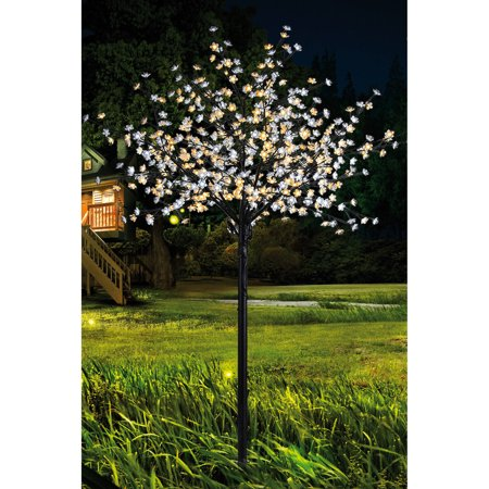 Lightshare 600L 8 5Ft Pear Blossom Tree With Warm White And White Lights