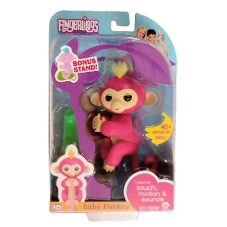 Fingerlings Interactive Baby Monkey Bella Pink With