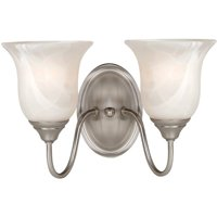 Hardware House Saturn 2-Light Wall Fixture - Finish: Satin Nickel