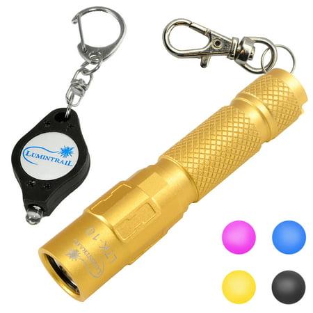 Lumintrail Keychain Flashlight 130 Lumen LED, Magnetic Tail, Reversible Pocket Clip, and Bonus Light](Led Flashlight Keychain)