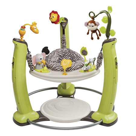 dd5356562a4e Evenflo ExerSaucer Jump   Learn Stationary Jumper - Jungle Quest ...