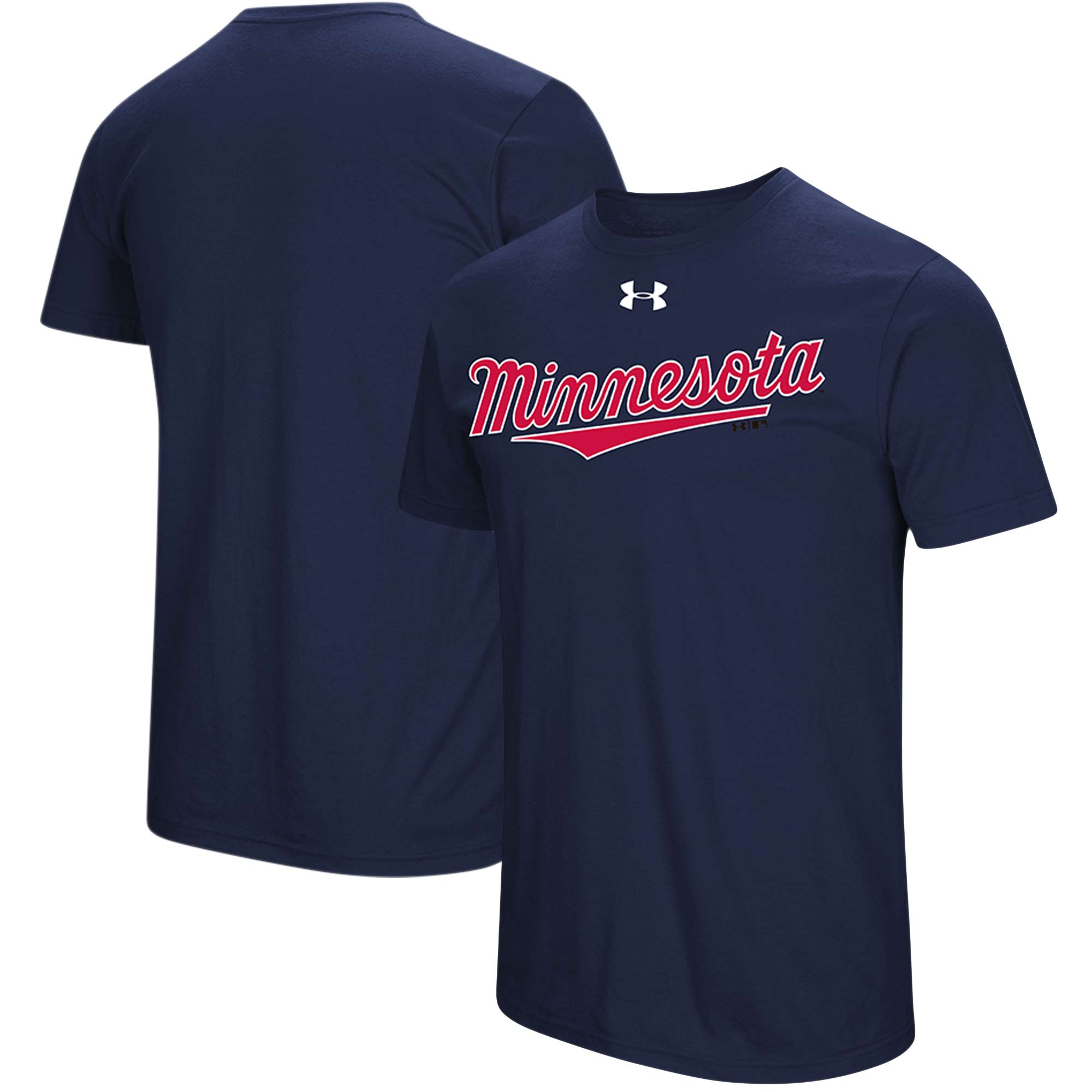 Minnesota Twins Under Armour Passion Road Team Font T-Shirt - Navy