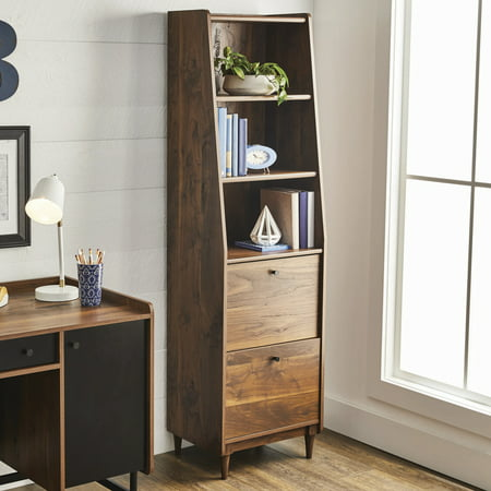 Upc 042666036108 Better Homes And Gardens Montclair 3 Shelf Bookcase W Drawers Vintage Walnut