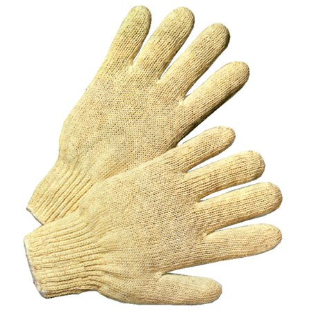 Cotton Polyester String Knit Gloves (Sold by Dozen) Mens Size