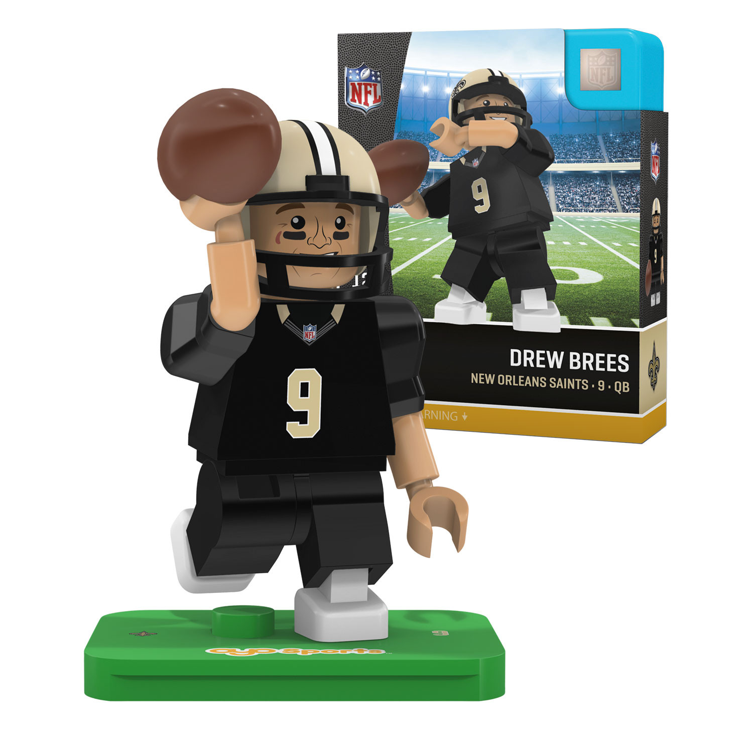 Drew Brees New Orleans Saints Official NFL Limited Edition Minifigure by Oyo 062198