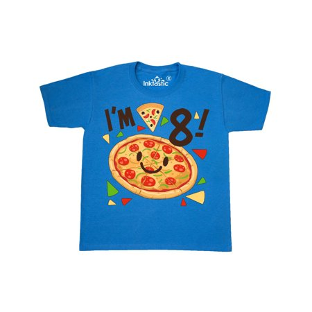 I'm Eight! pizza birthday party Youth T-Shirt