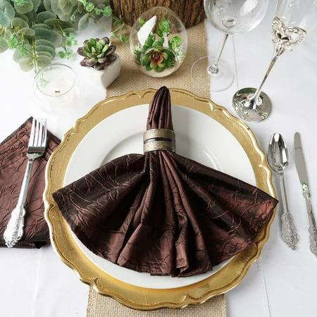 20 Gold Piece Replica (BalsaCircle 5 pcs 20 inch Taffeta Crinkle Napkins - Wedding Party Events Restaurant Dinner Kitchen Home Decorations )