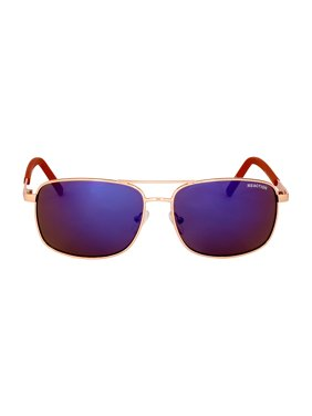 Kenneth Cole Reaction Metal Frame Blue Mirror Lens Men's Sunglasses KC12995932X
