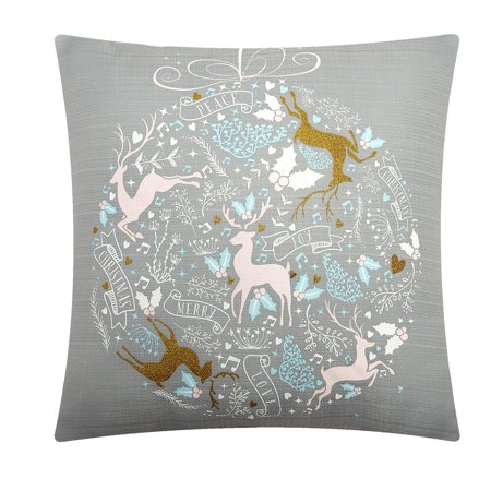 Mainstays Bauble Pastel Throw Pillow - Pastel Satin Pillow