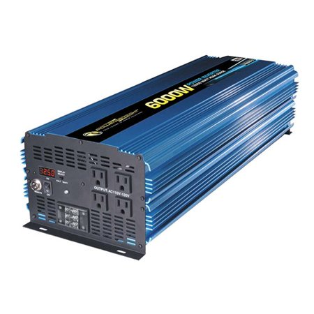 PowerBright PW6000-12 12-Volt Modified Sine Wave Inverter, 6,000 Watts
