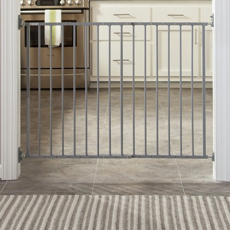Storkcraft Easy Walk Thru Metal Safety Gate Gray Walmart Com