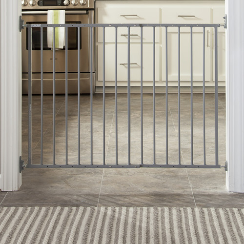 Storkcraft Easy Walk-Thru Metal Safety Gate Gray