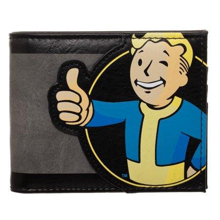 Bioworld Fallout Vault Boy Thumbs Up PU Bifold Wallet Boy Bi Fold Wallet