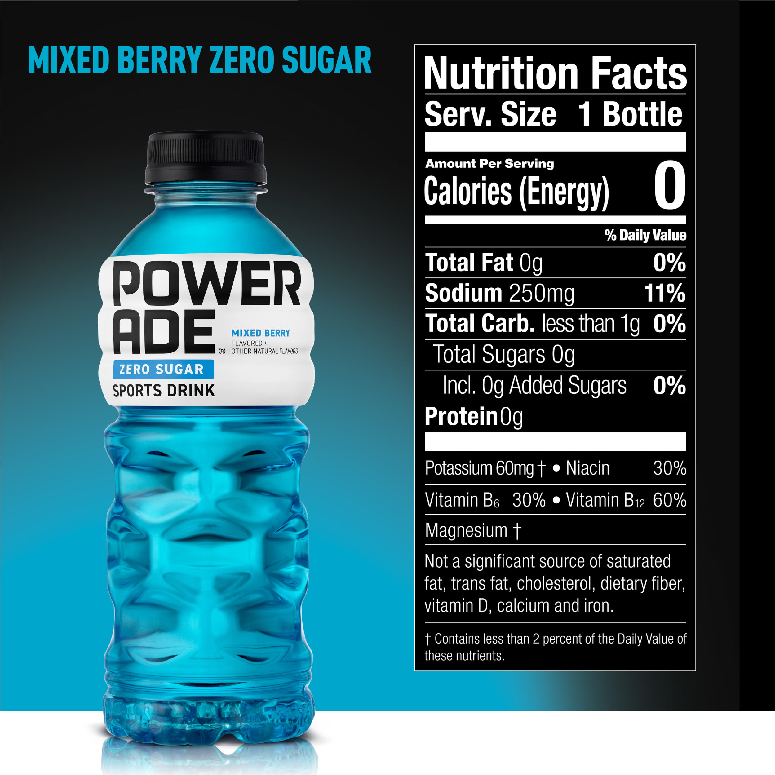 Powerade Zero Mixed Berry Blast 20 Fl Oz 8 Pack Walmart Com Walmart Com