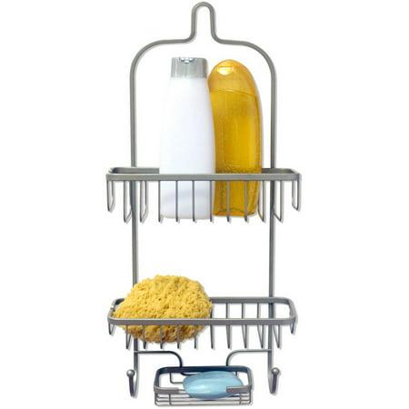 Home Basics Satin Nickel Shower Caddy Heavy Weight Nickel Satin Shower Caddy