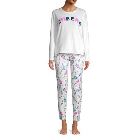 Printed PJ Set Calvin Klein Womens Sleepwear