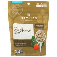 Navitas Naturals Cashew Nuts, Organic, Whole, 8 Oz, 8 Oz, Pack Of 12