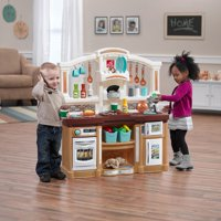 Step2 Fun with Friends Kids Play Kitchen with 38 Piece Accessory Set - Tan
