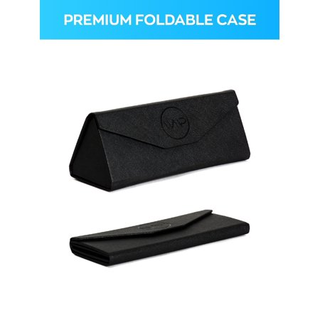 WearMe Pro - Black Foldable Sunglasses or Glasses Case (Black) - Prom Glasses