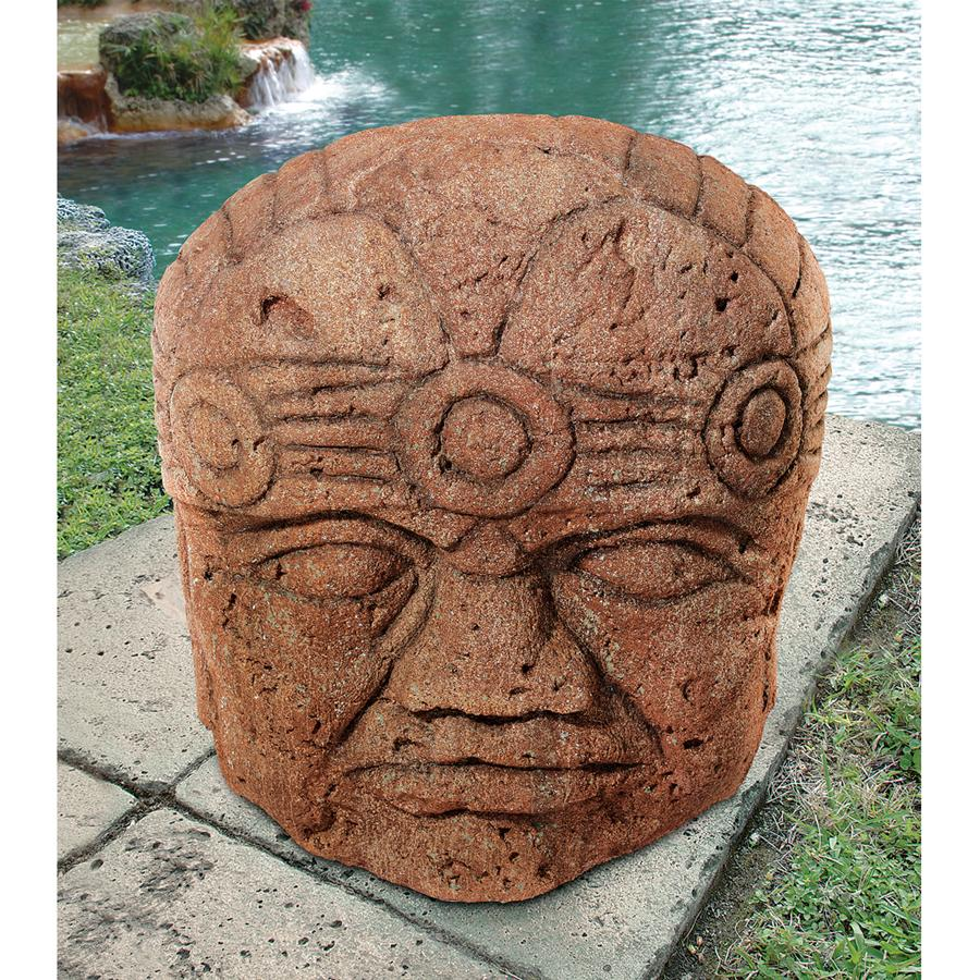 Colossal Megalithic Olmec Head Statue