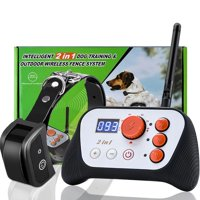Yosoo 2 in 1 Dog Trainer Collar Dog Fence Rechargeable Dog Training System Kit with Collar Receiver Transmitter