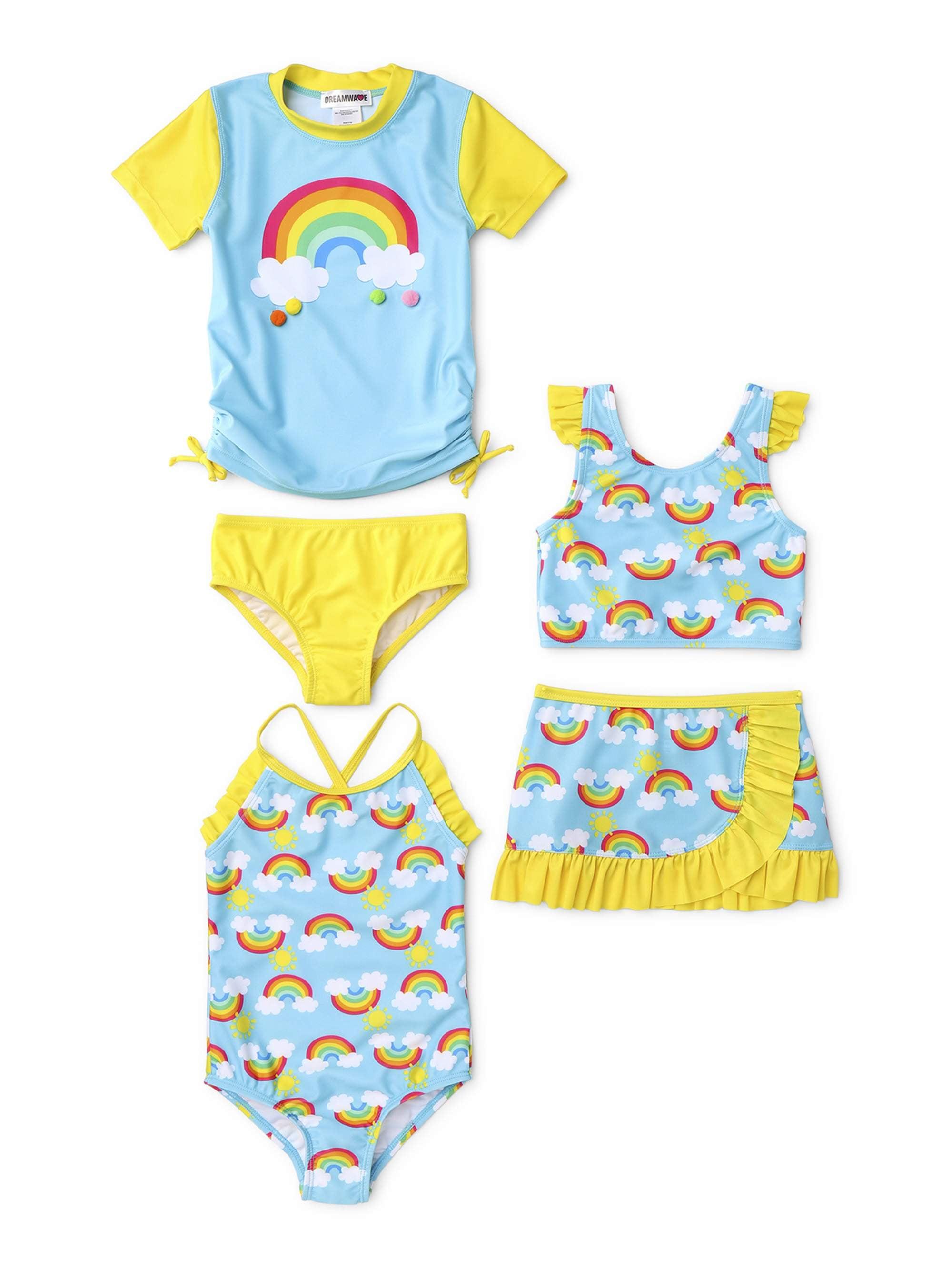 Wippette Girls Toddler Sunflower Swimsuit