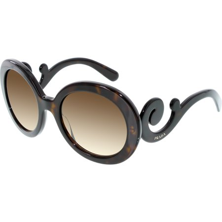 Prada Women's Gradient PR27NS-2AU6S1-55 Tortoiseshell Round (6s1 Prada Sunglasses)