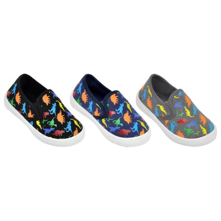 Boys' Dinosaur No Tie Slip On Shoe - Toddler Sizes 5, 6, 7, 8, 9 and 10