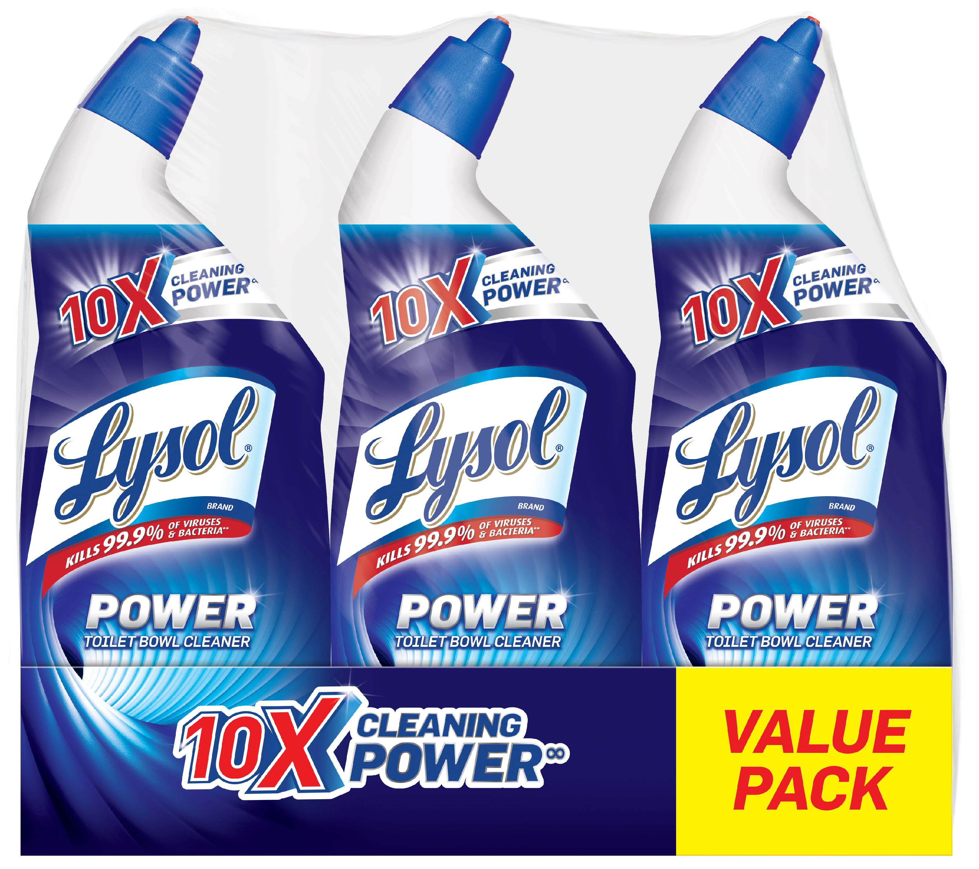 Lysol Power Toilet Bowl Cleaner, 72oz, Fights Toilet Rings & Stains