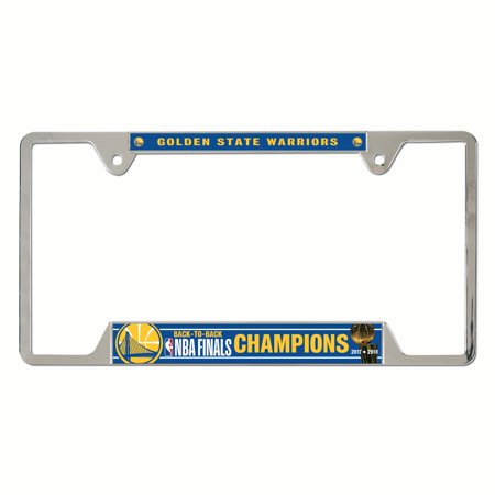 National Champions License Plate - Golden State Warriors Official NBA 2018 National Champions License Plate Frame Metal by Wincraft 348234