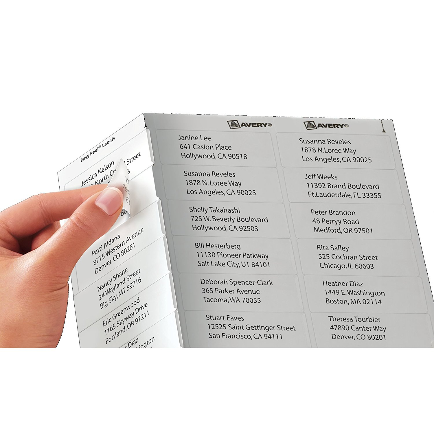 Clear Easy Peel Shipping Labels For Laser Printers 2 X 4 Box Of