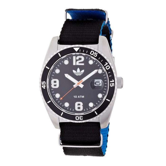 Adidas ADH2866 Originals Unisex Black Canvas Bracelet With 42mm Analog Watch NIB by Adidas