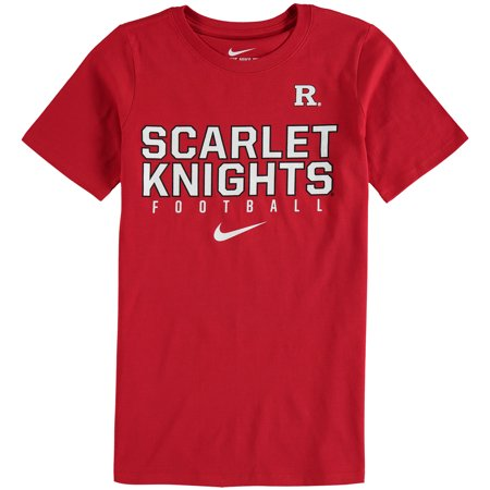 Rutgers Scarlet Knights Nike Youth Sideline Core Football T-Shirt - Scarlet - Nike Poly Core