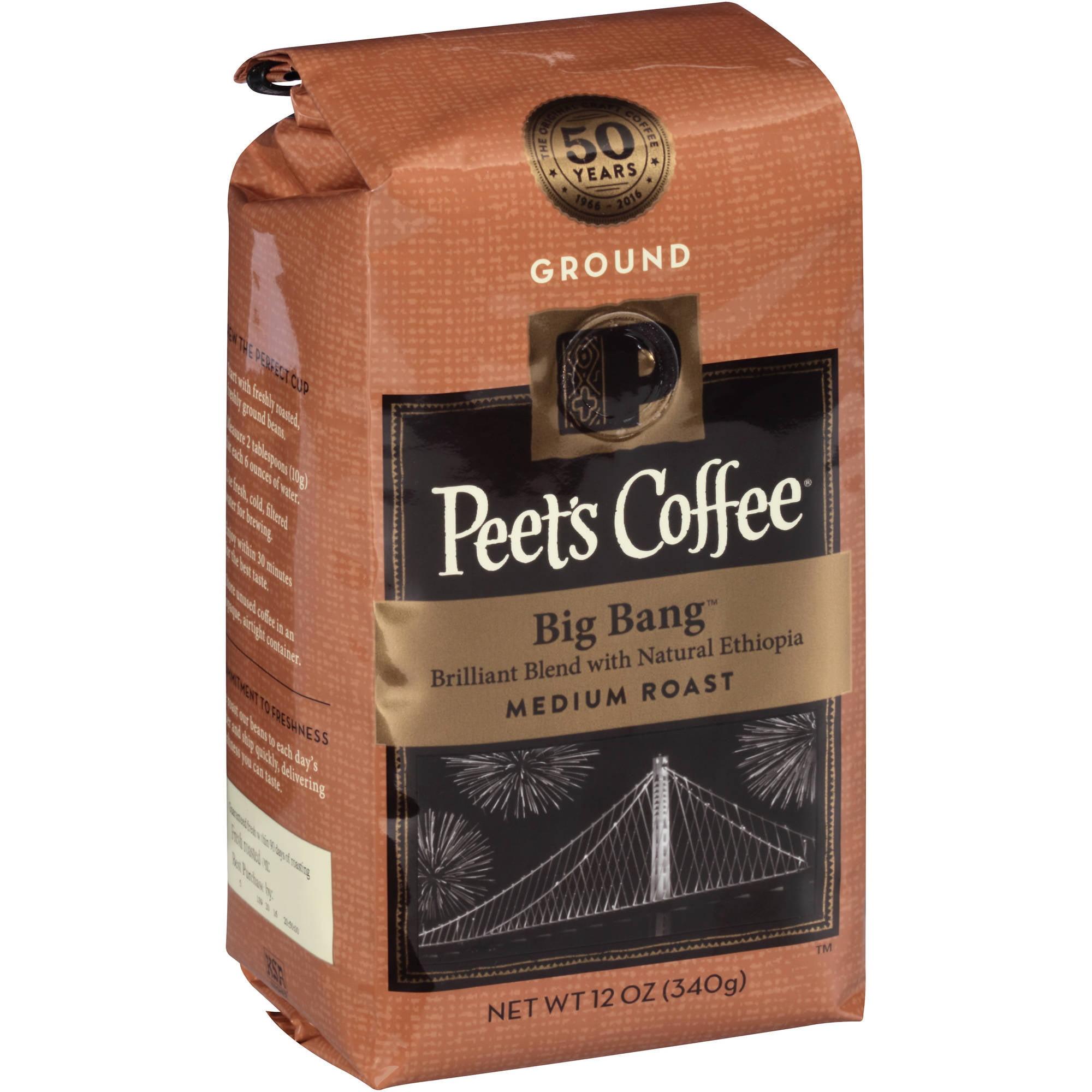 Peet's Coffee Big Bang Medium Roast Ground Coffee, 12 oz