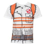 Ghostbusters Men's White Costume T-Shirt-X-Large