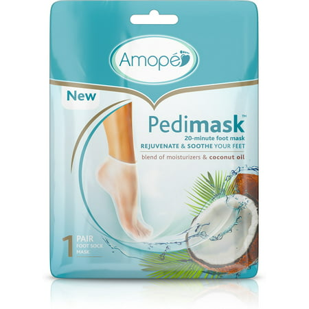 6 Pack - Amope Pedimask Foot Sock Mask, Coconut Oil Essence, Blend Of Moisturizers To Rejuvenate & Soothe Your Feet  3 e