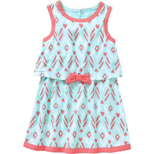 Healthtex Baby Toddler Girl Printed Flounce Tank Dress