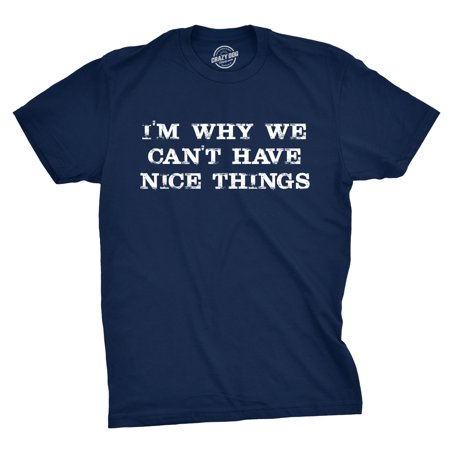I'm Why We Can't Have Nice Things T Shirt Funny Sarcastic Humor (Have U Tried That Crazy Wrap Thing)