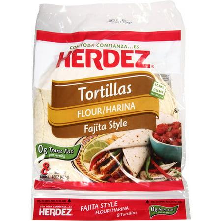 Herdez Fajita Style Flour Tortillas, 16 oz, (Pack of 12)