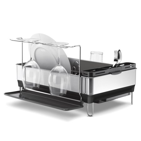 Simplehuman Steel Frame Dishrack Fingerprint-Proof Stainless Steel Grey