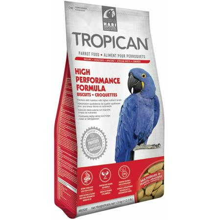 Tropican High Performance Formula Biscuits Parrot Food - Parrot Formula