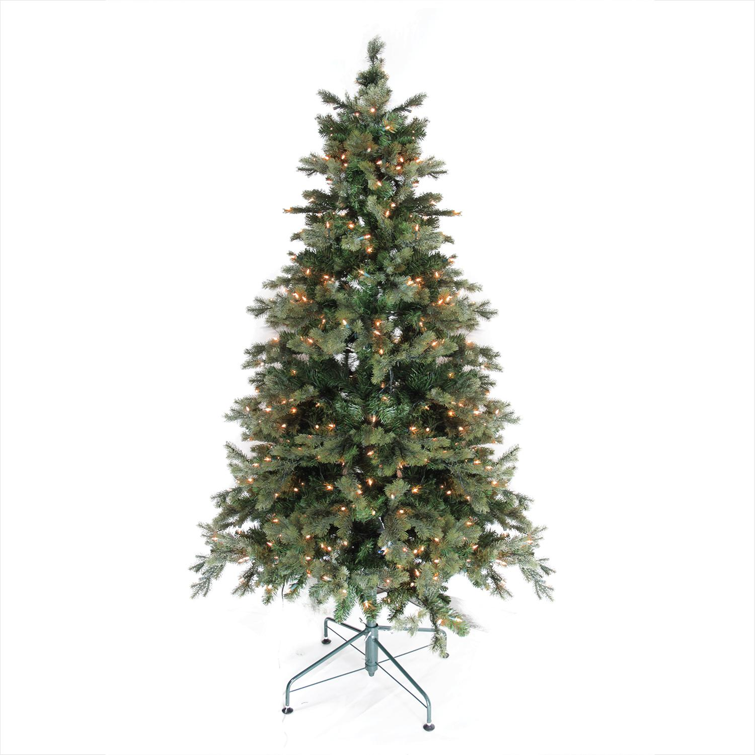 6' Pre-Lit Savannah Spruce Artificial Christmas Tree - Clear Lights